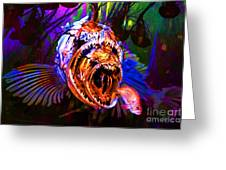 Creatures Of The Deep - Fear No Fish 5d24799 Greeting Card by Wingsdomain Art and Photography