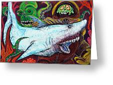 Creatures Of The Deep Greeting Card by Laura Barbosa