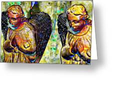 Creche Angels 5 Greeting Card