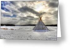 Cree Tepee Greeting Card