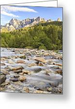 Creek And Castle Crags Greeting Card