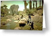 Creek At Jackalope Ranch Palm Springs Greeting Card