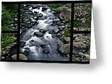 Creek Flow Polyptych Greeting Card