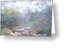 Creek In The Forest Greeting Card