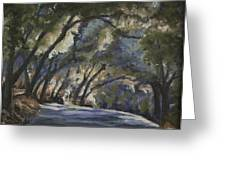 Creek Road Oaks Greeting Card