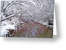 Creekside In The Snow 2 Greeting Card