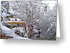 Creekside In The Snow Greeting Card