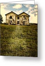 Creepy Derelict House Greeting Card