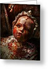 Creepy - Doll - It's Best To Let Them Sleep  Greeting Card