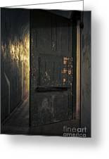 Creepy Door Greeting Card