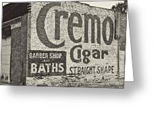 Cremo Cigar In Black And White Greeting Card