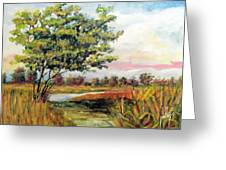 Crepe Myrtle In The Wetlands Greeting Card