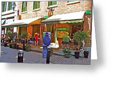 Crepes Et Fondues In Old Montreal-qc Greeting Card
