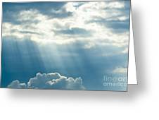Crepuscular Rays Greeting Card