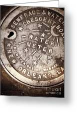 Crescent City Water Meter Greeting Card