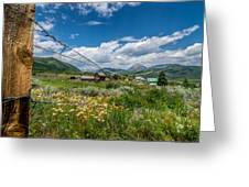 Crested Butte Farm House Greeting Card