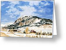 Crested Butte Mountain Greeting Card