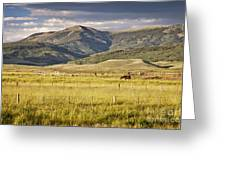 Crested Butte Ranch Greeting Card