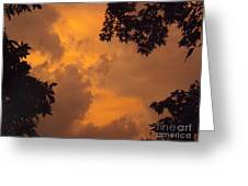 Cresting The Storm Clouds Greeting Card