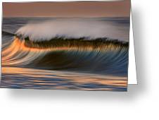Cresting Wave By David Orias  Greeting Card