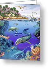 Cretaceous Period Fauna Greeting Card