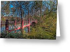 Crim Dell Bridge Spring Greeting Card