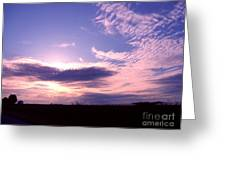 Crimped Clouds Greeting Card