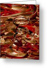 Crimson And Gray Glass Macro Ws2 Greeting Card