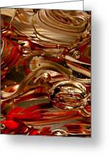 Crimson And Gray Glass Macro Ws4 Greeting Card