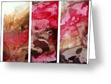 Crimson Cream Original Painting Madart Greeting Card