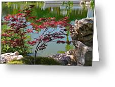 Crimson Leaves Greeting Card