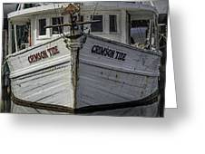 Crimson Tide Headon Greeting Card