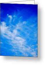 Cris Cross Clouds IIi Greeting Card