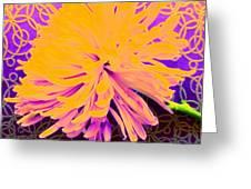 Crisantemo Dorado Greeting Card