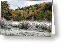 Crisp Morning Frost Hillside Landscape Greeting Card