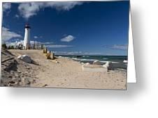 Crisp Point Lighthouse 17 Greeting Card