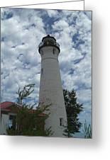 Crisp Point Lighthouse3 Greeting Card