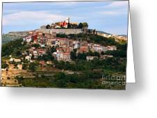 Croatian City Motovun  Greeting Card