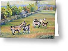 Croatian Goats Greeting Card