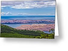 Croatian Islands Aerial View From Velebit Greeting Card