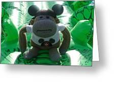 Croc Riding Monkey Greeting Card