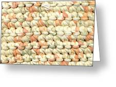 Crochet Rag Rug In Pastel Colours Greeting Card
