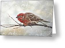 Croching Finch Greeting Card