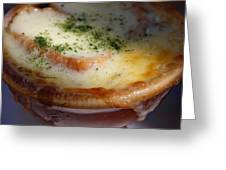 Crock Of French Onion Soup Greeting Card