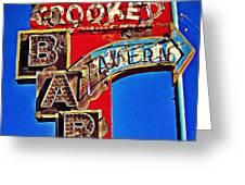 Crooked Bar And Tavern Greeting Card