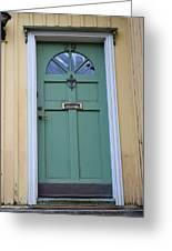Crooked Green Door Greeting Card