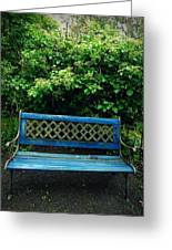 Crooked Little Bench Greeting Card