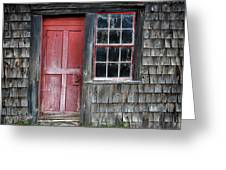 Crooked Red Door Greeting Card