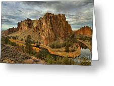Crooked River Bend Greeting Card