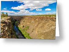 Crooked River Canyon And Bridge Greeting Card